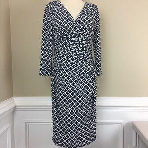 Ralph Lauren Faux Wrap Front Dress 8